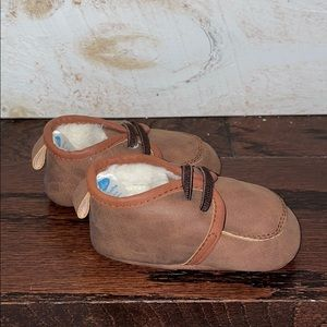 Bon Bebe Baby Leather Moccasins Faux Fur Lining